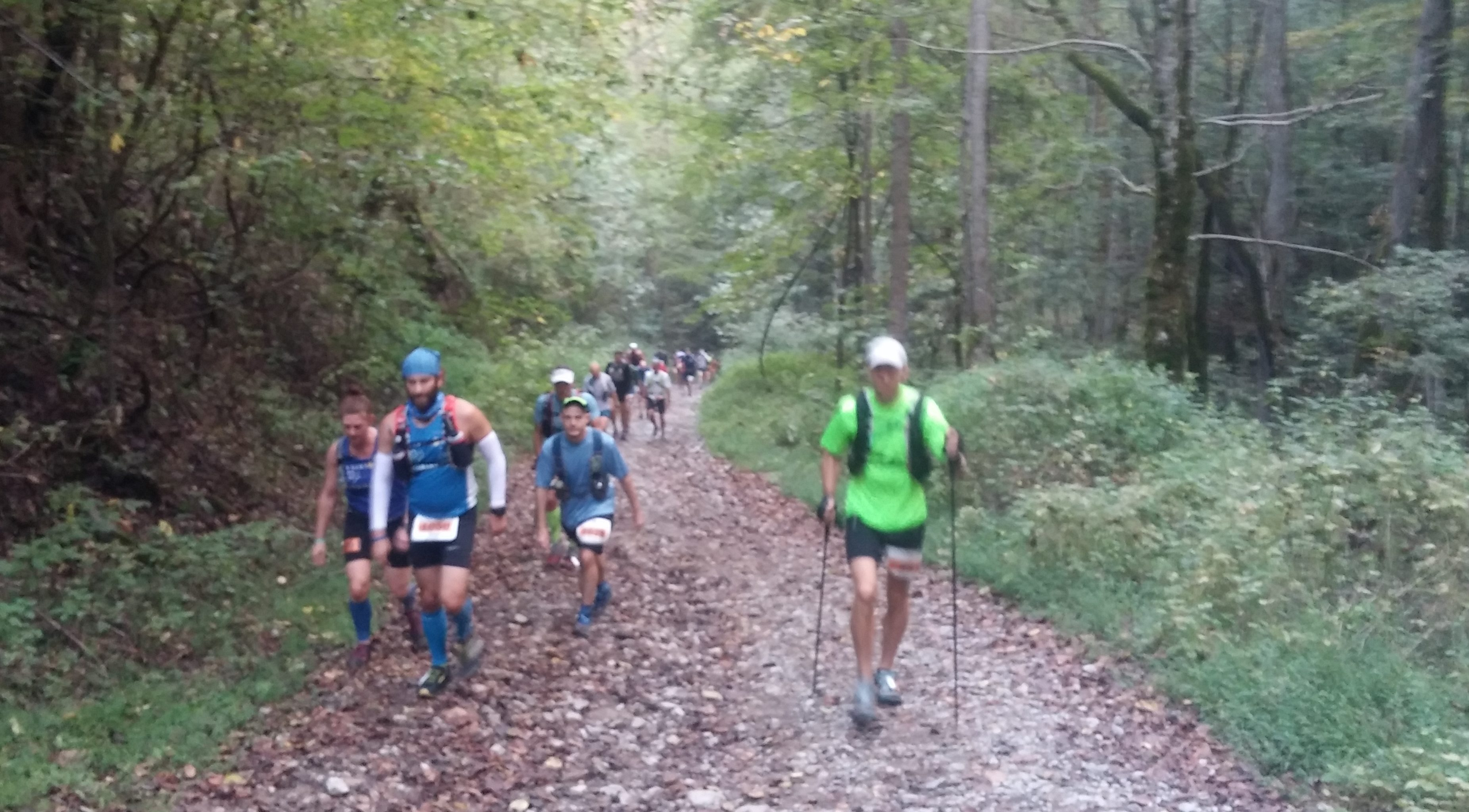 The trails were pretty nice, too. This is the first big climb out of Elkhorn City. There is still a lot of runners around as the 100 mile, 100k, and 50k all started at the same time.